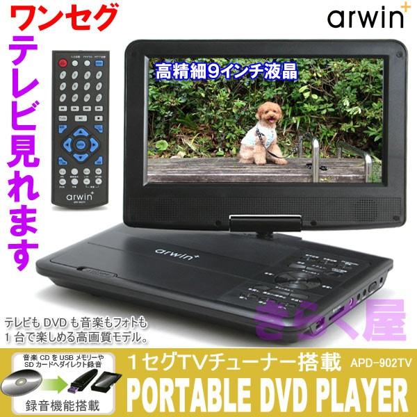 9インチDVDプレーヤー APD-902TV